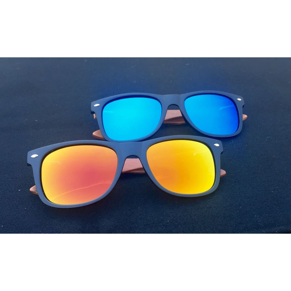 Huntington Wood Sunglasses by Jonny B - Plastic Frames - Sunfire - Sunglasses