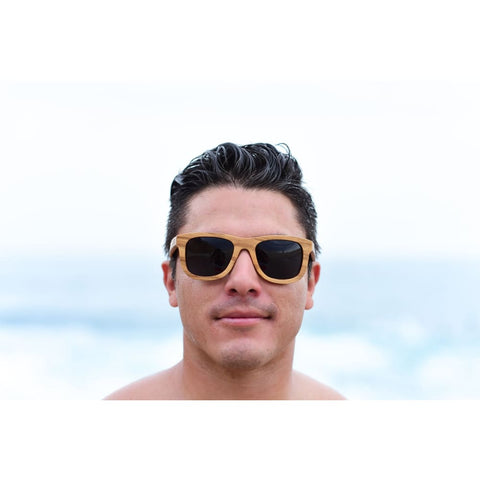 Laguna Wood Sunglasses by Jonny B - Brown - Sunglasses