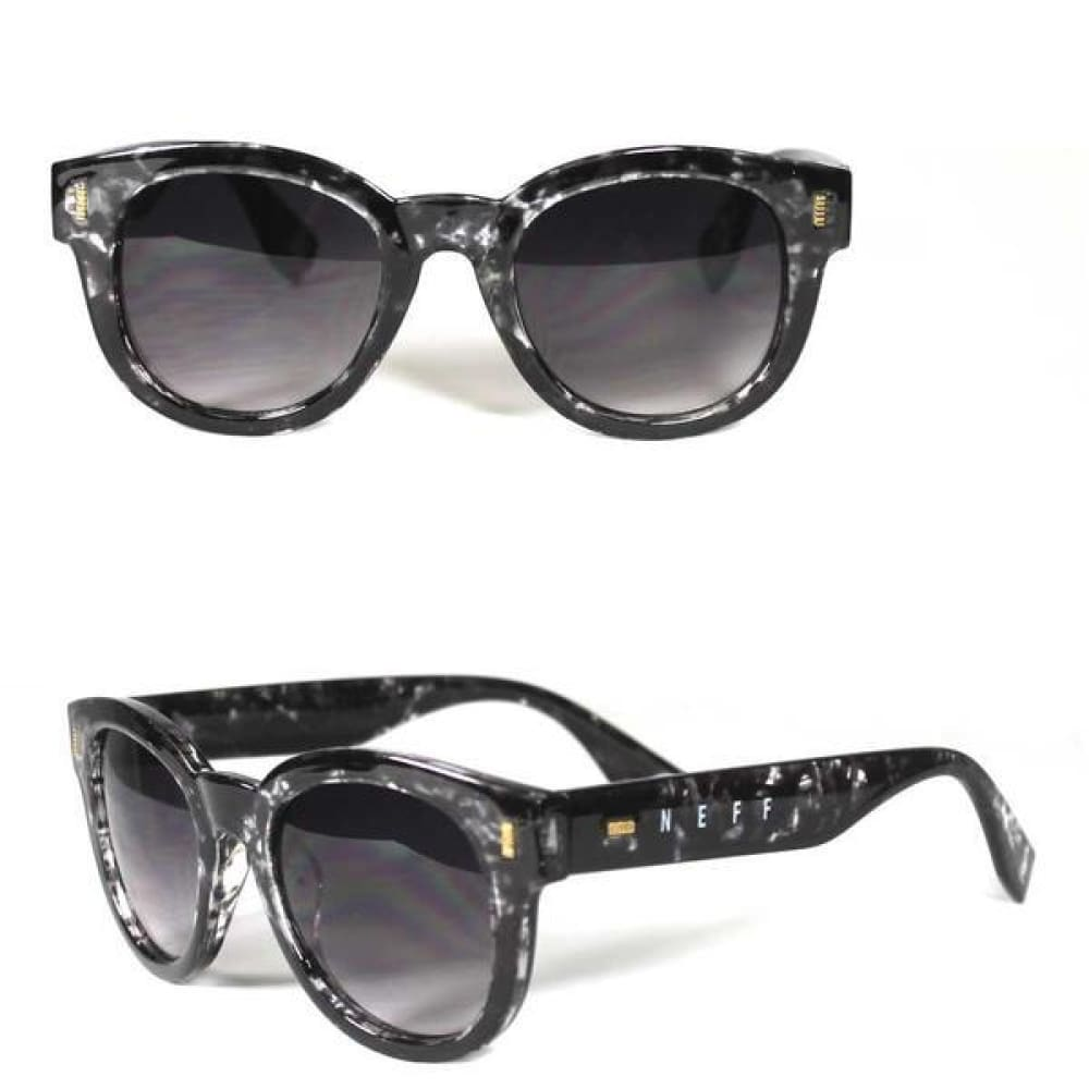 neff 30395 bella sunglasses shades glasses womens black white print