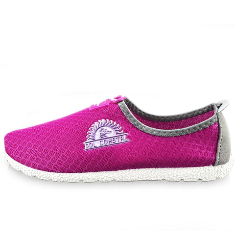 Image of Pink Womens Shore Runner Water Shoes Size 7 - Beach Gear