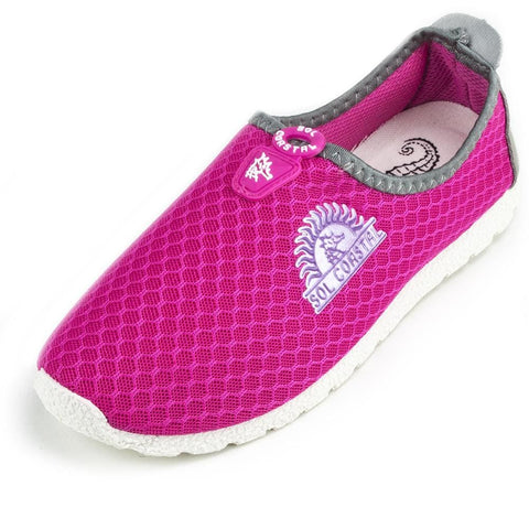 Image of Pink Womens Shore Runner Water Shoes Size 8 - Beach Gear