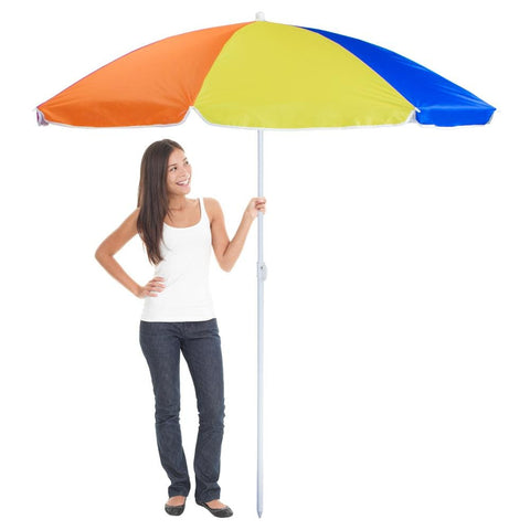 Image of Rainbow Beach Umbrella 6-foot - Beach Gear
