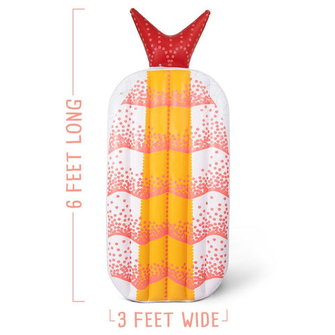 Image of Shrimp Sushi Inflatable Pool Float - Beach Gear