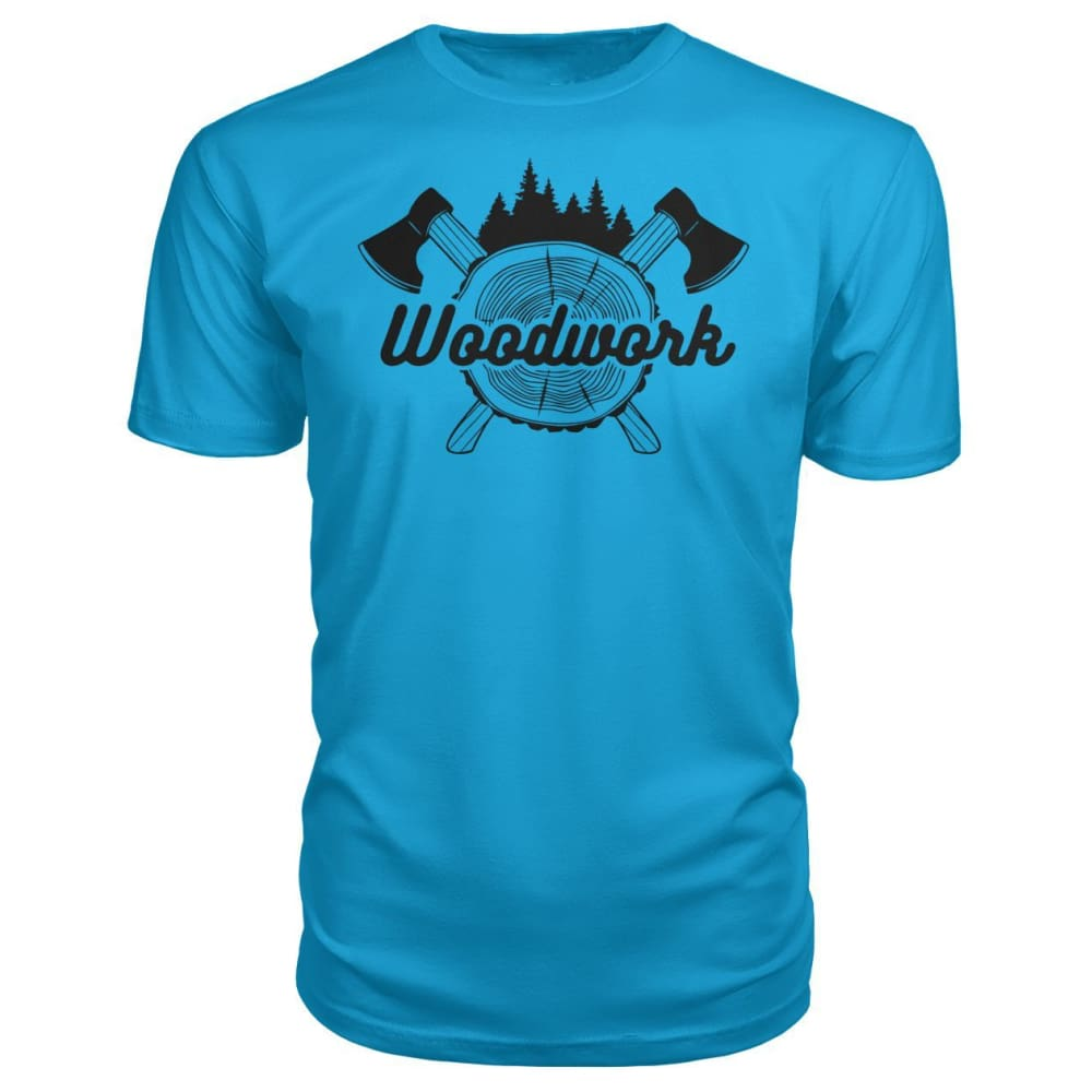 Woodwork Premium Tee - Carribean Blue / S - Short Sleeves
