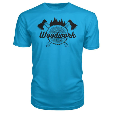 Image of Woodwork Premium Tee - Carribean Blue / S - Short Sleeves