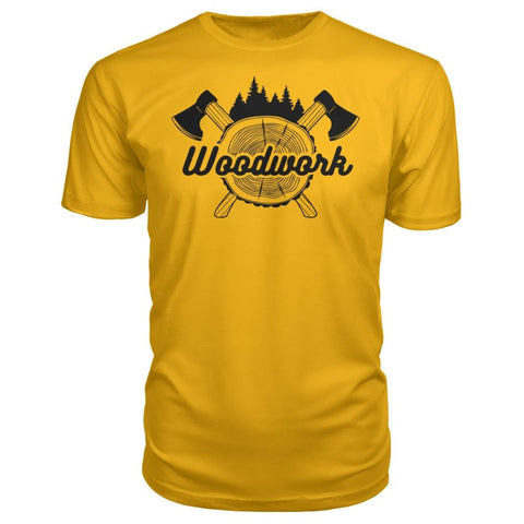 Image of Woodwork Premium Tee - Gold / S - Short Sleeves