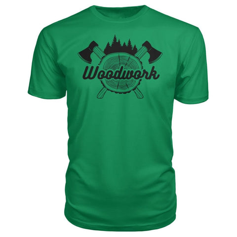 Image of Woodwork Premium Tee - Green Apple / S - Short Sleeves