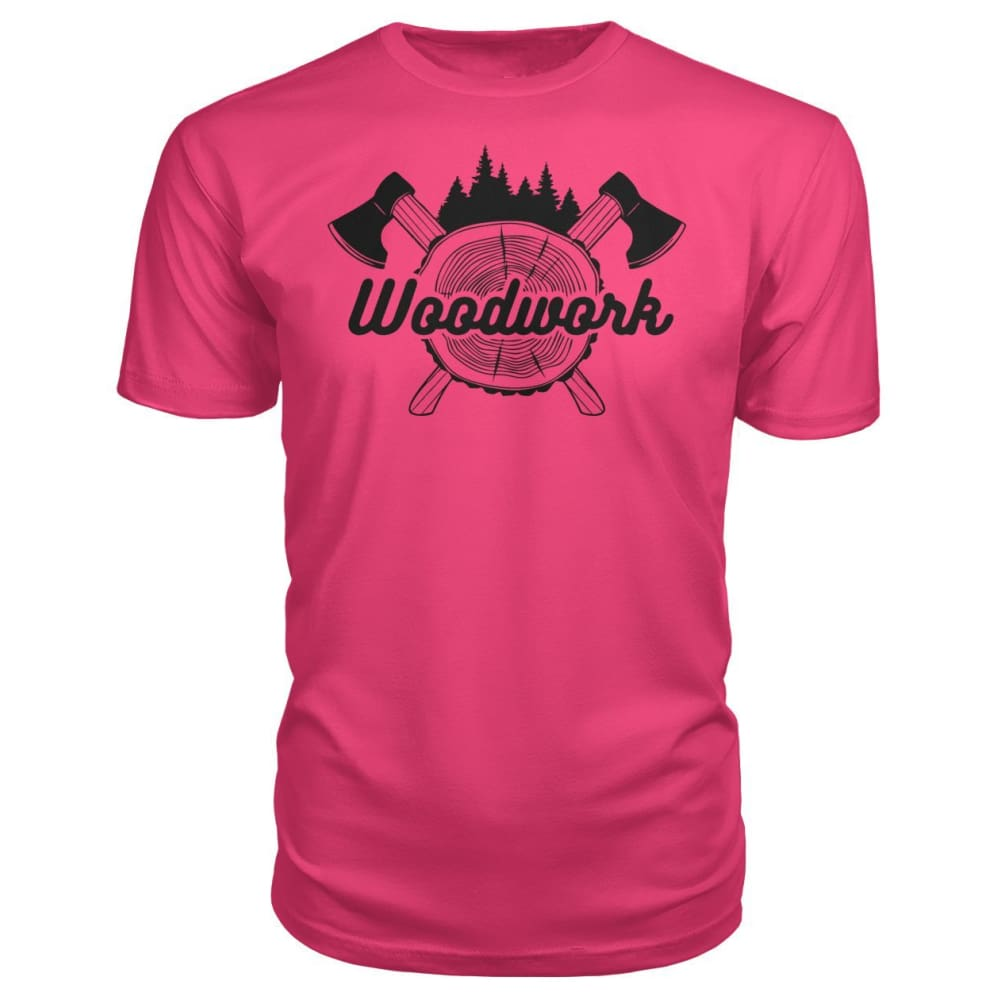 Woodwork Premium Tee - Hot Pink / S - Short Sleeves