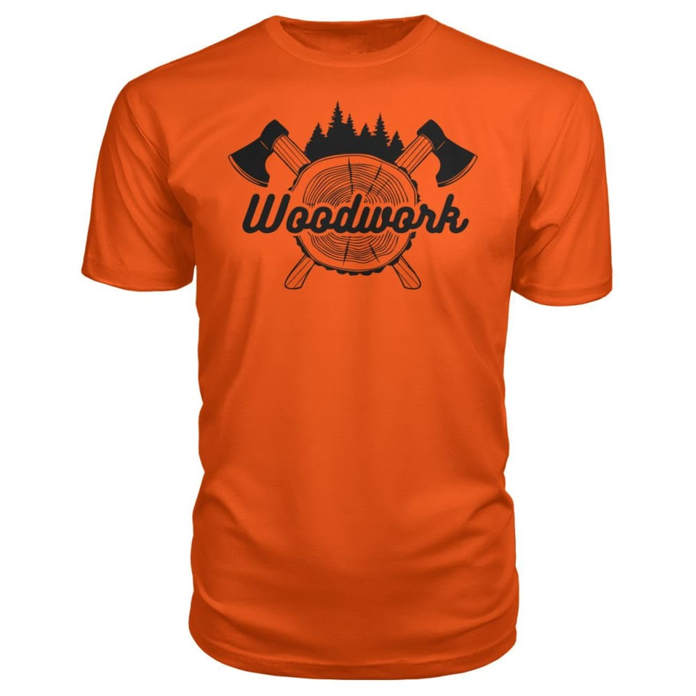 Woodwork Premium Tee - Orange / S - Short Sleeves