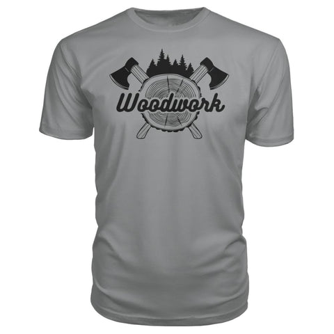 Image of Woodwork Premium Tee - Storm Grey / S - Short Sleeves