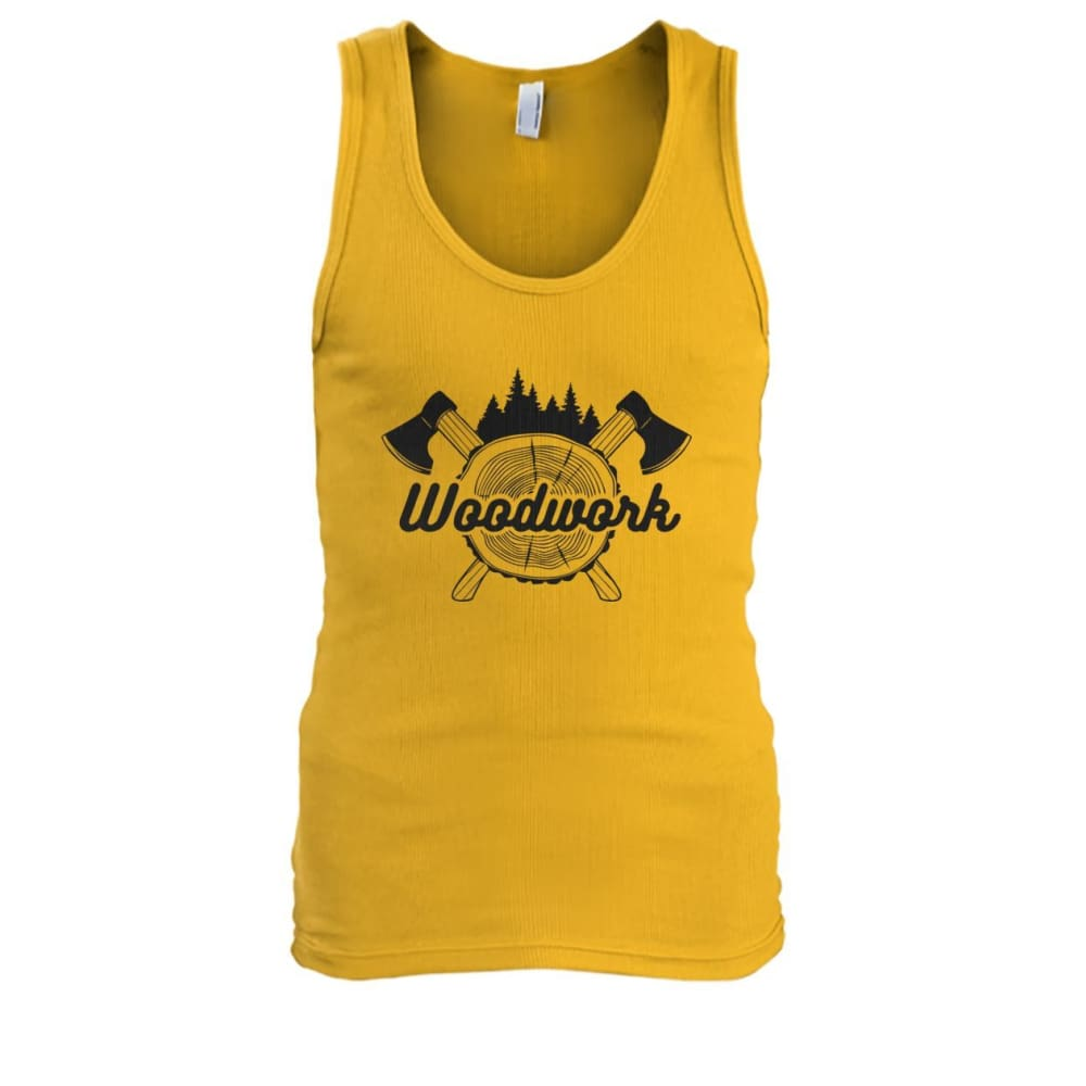 Woodwork Tank - Gold / S - Tank Tops