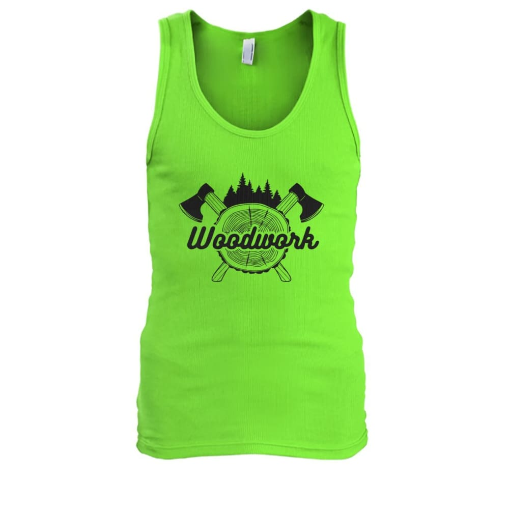 Woodwork Tank - Lime / S - Tank Tops