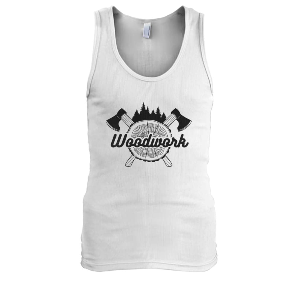 Woodwork Tank - White / S - Tank Tops