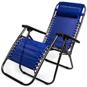 Zero Gravity Folding Lounge Chair Blue - Beach Gear
