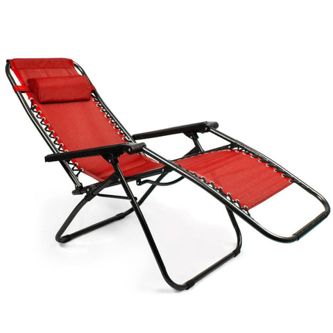 Zero Gravity Folding Lounge Chair Red - Beach Gear