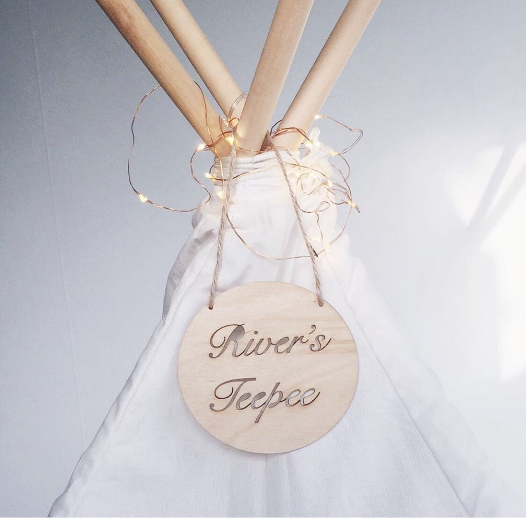 Personalised Teepee plaque