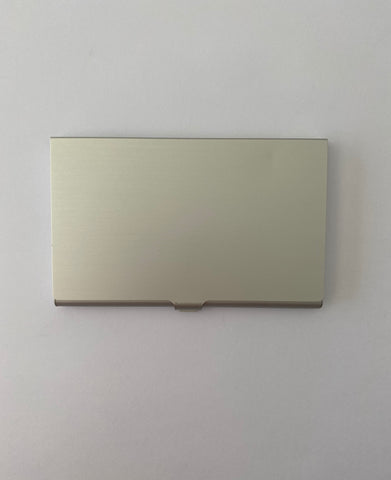 Aluminum Laser Engraved Business Card Holder