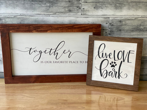 Reversible / Interchangeable sign