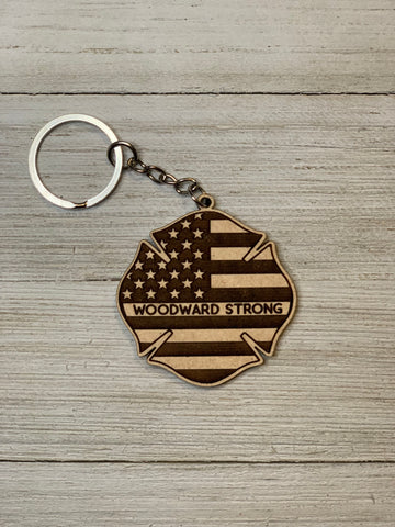 Woodward Strong Keychains
