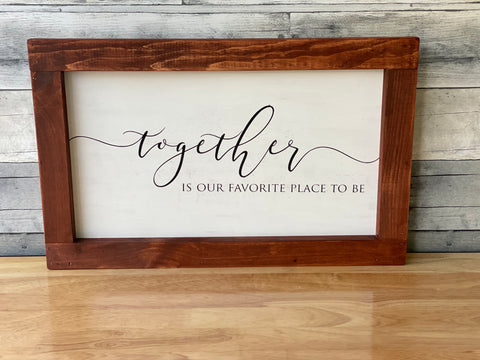 Reversible sign insert- Together/home