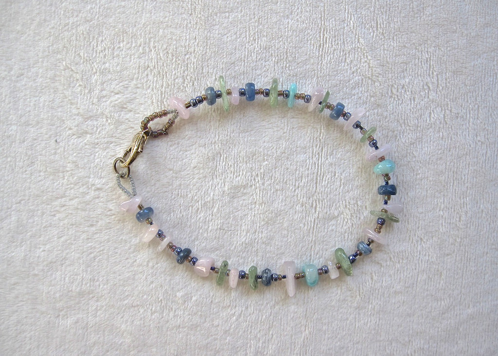 Gemstone Ankle Bracelet-SugarJewlz Handmade Jewelry