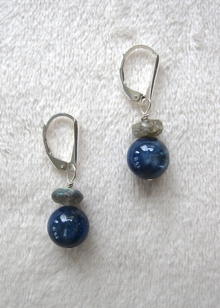 Kyanite and Labrodite Earrings-SugarJewlz Handmade Jewelry