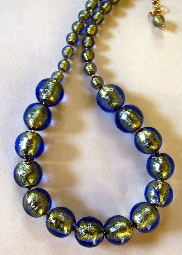 Venetian Glass Classic Necklace-SugarJewlz Handmade Jewelry
