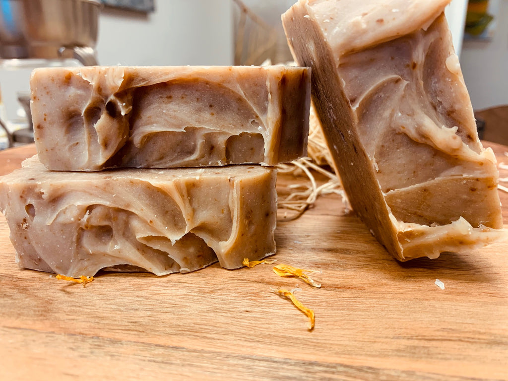 Comforting Coconut & Oatmeal Milk Handmade Soap