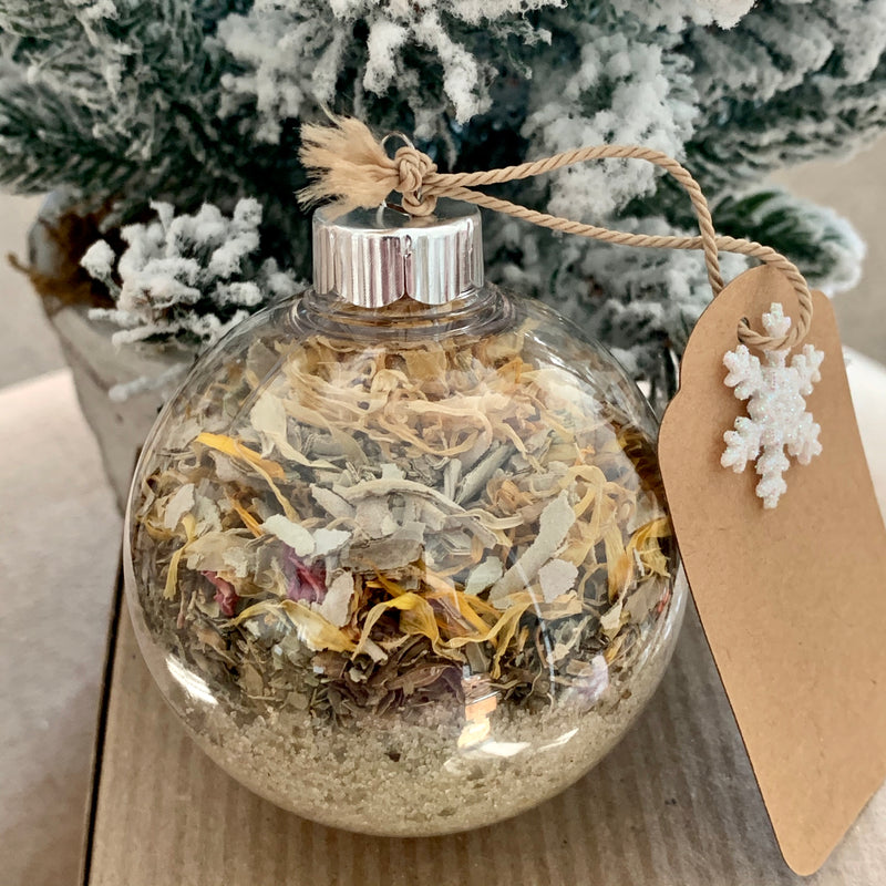 Holiday Bath Salts Ornaments