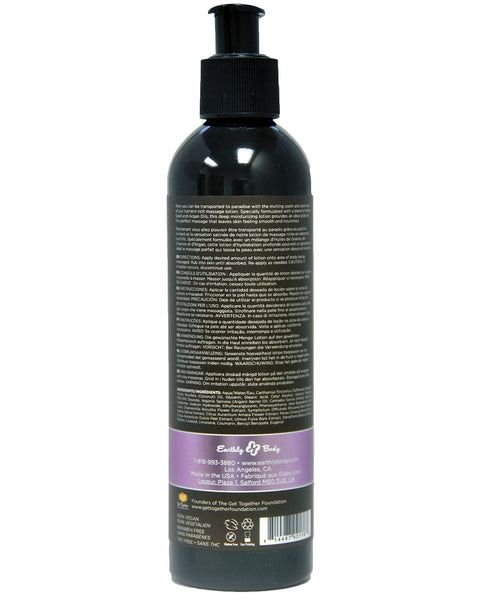 Earthly Body Hemp Seed Massage Lotion - 8 oz Lavender