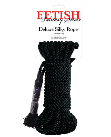 Fetish Fantasy Series Deluxe Silk Rope - Black