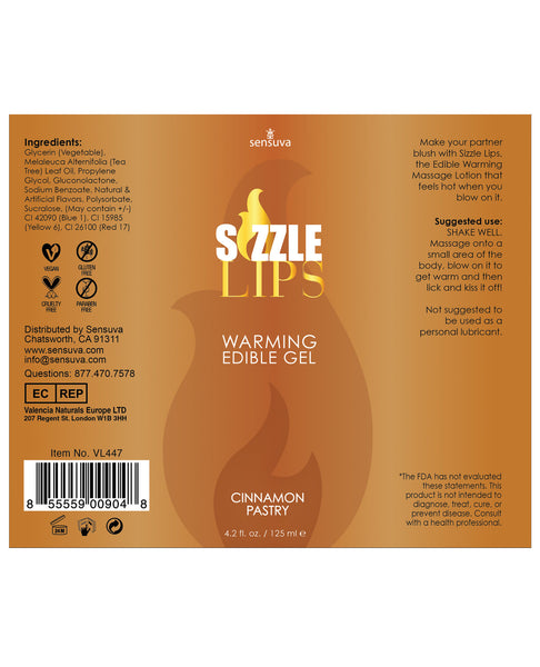 Sizzle Lips Warming Gel - 4.2 oz Cinnamon Pastry