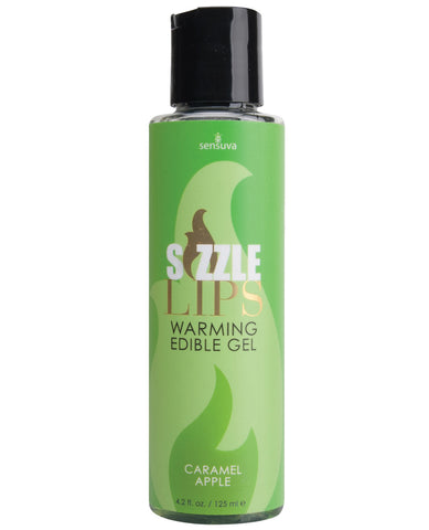 Sizzle Lips Warming Gel - 4.2 oz Bottle Caramel Apple
