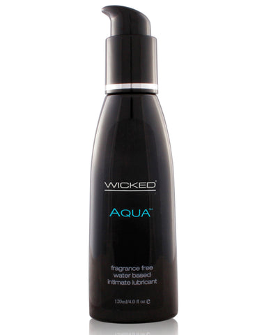 Wicked Sensual Care Aqua Waterbased Lubricant - 4 oz Fragrance Free