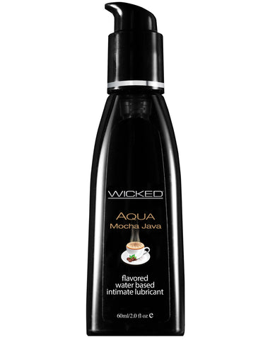 Wicked Sensual Care Aqua Waterbased Lubricant - 2 oz Mocha Java