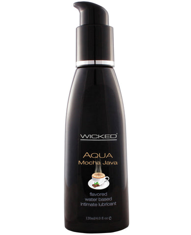 Wicked Sensual Care Aqua Waterbased Lubricant - 4 oz Mocha Java