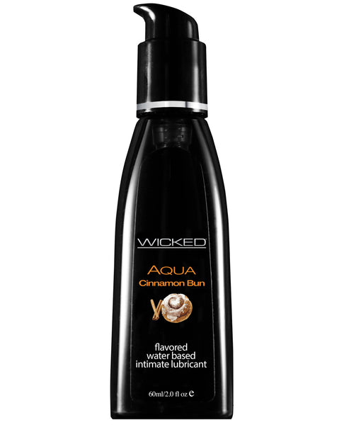 Wicked Sensual Care Aqua Waterbased Lubricant - 2 oz Cinnamon Bun
