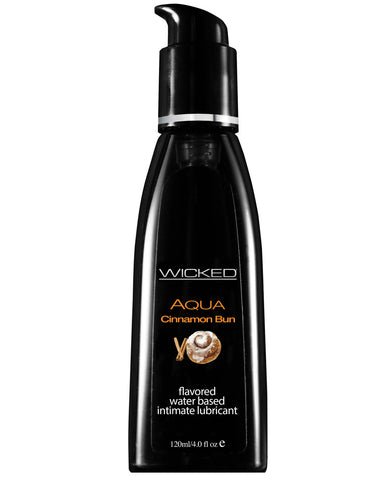 Wicked Sensual Care Aqua Waterbased Lubricant - 4 oz Cinnamon Bun