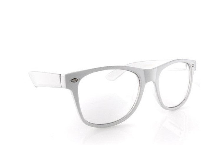 novelty white glasses