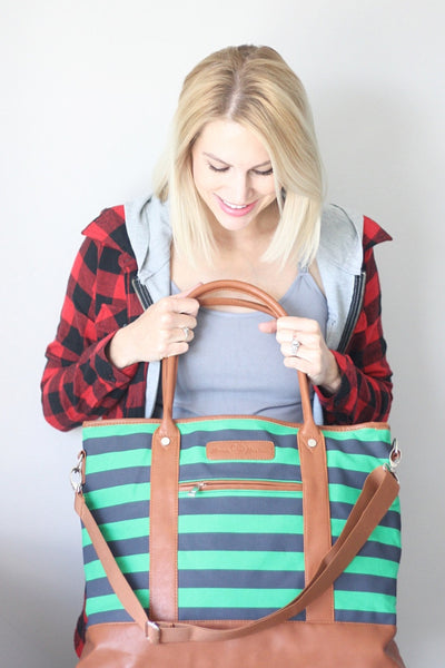 Alex Diaper Bag Navy & Green by Mama Martina