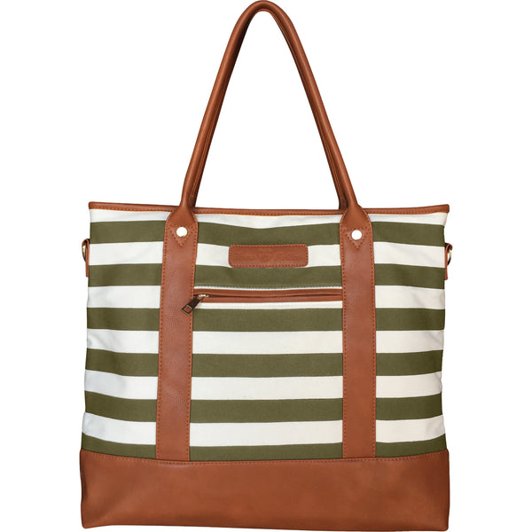 Alex Diaper Bag Olive Green & White by Mama Martina