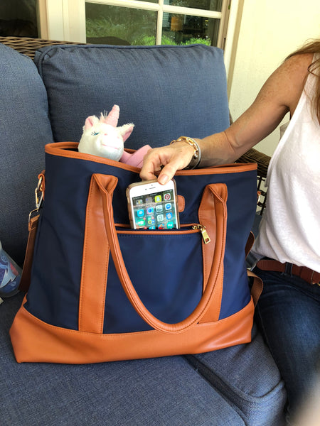 Live on Kickstarter! Alex Diaper Bag by Mama Martina - Go Navy