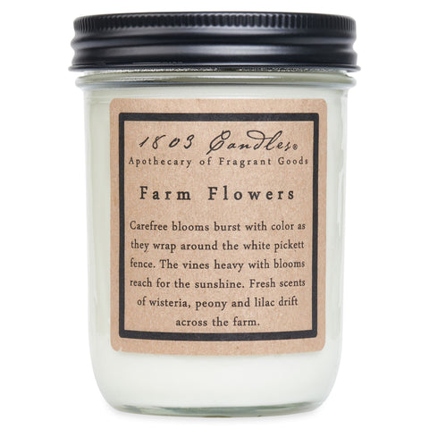 1803 Candle: Farm Flowers
