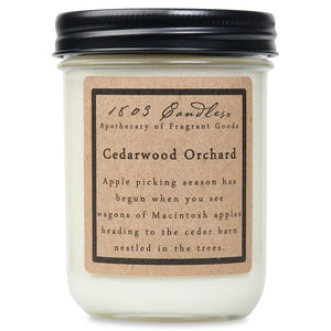 1803 Candle: Cedarwood Orchard