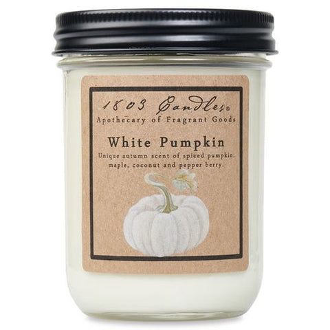 1803 Candle: White Pumpkin