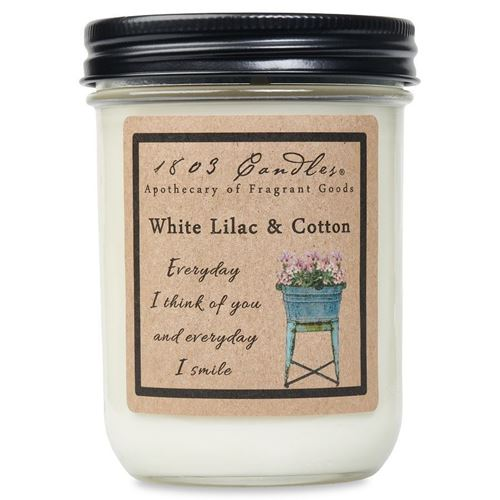 1803 Candle: White Lilac & Cotton