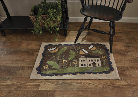WHIMSEY COTTAGE HOOKED RUG