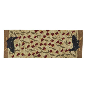 CHICKEN RUN HOOKED RUG RUNNER