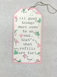 All Good Things Wine Tag