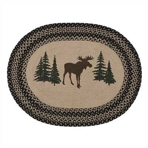 Moose Braided Rug